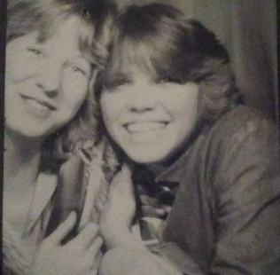 Crystal and I in a photo booth! Jr High, mid '70's